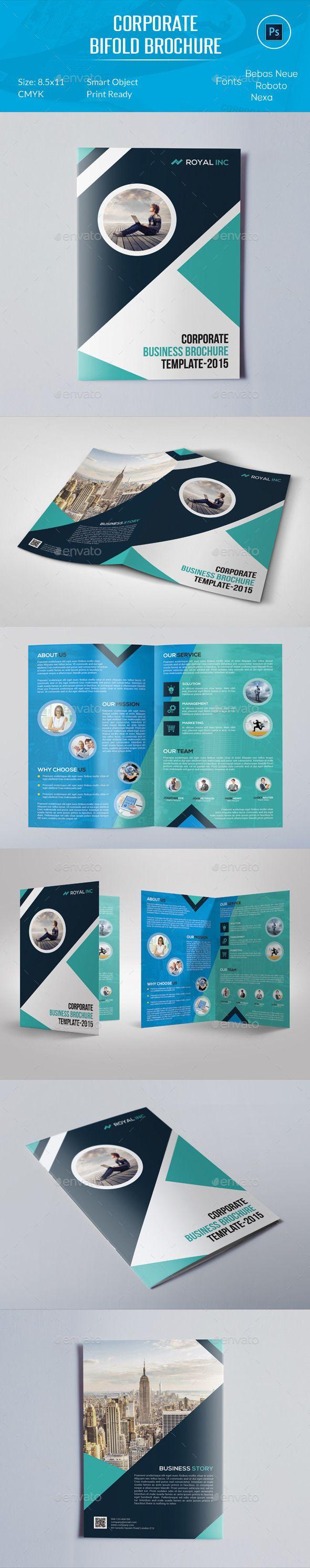 Corporate Bifold Brochure Template #design Download: http://graphicriver.net/item/corporate-bifold-brochure/12248523?ref=ksioks