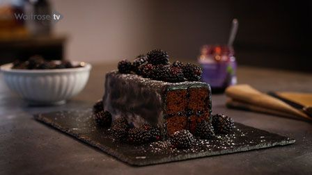John Whaite shares his dark and decadent take on the classic Battenburg cake.