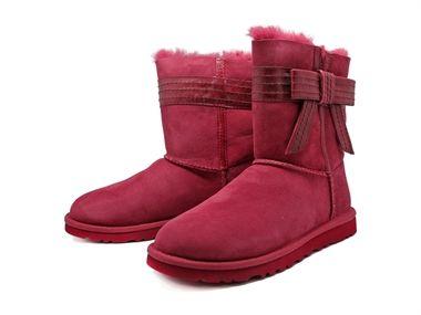 botas ugg color rosa