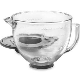 Kitchenaid Glass Bowl For 5-Quart Artisan And Tilt-Head Stand Mixers Clear 5 Qt