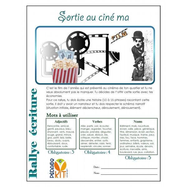 Français Rallye écriture cinéma (narratif)