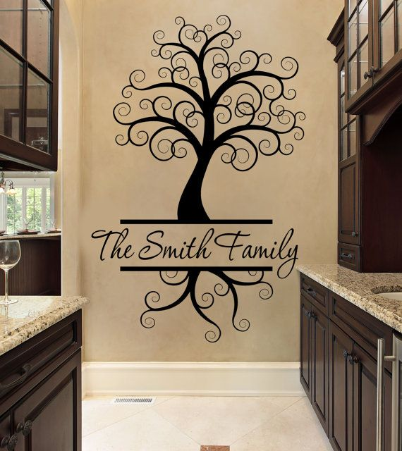 Family Wall Decal  Tree Wall Decal    by FourPeasinaPodVinyl, $21.50