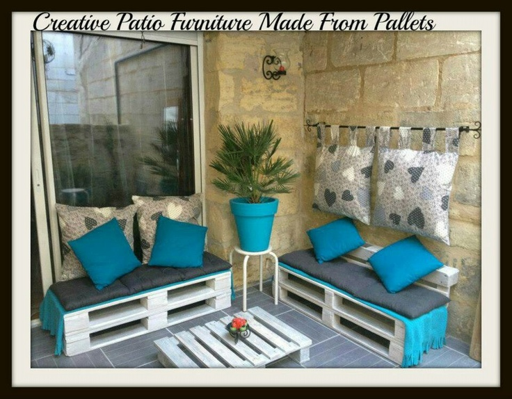 pallet patio furniture decor. Terrasse Sofa Creative Pallet Corner Idea In Home Decor Entrance Furniture Outdoor Project With Terrace. Patio E
