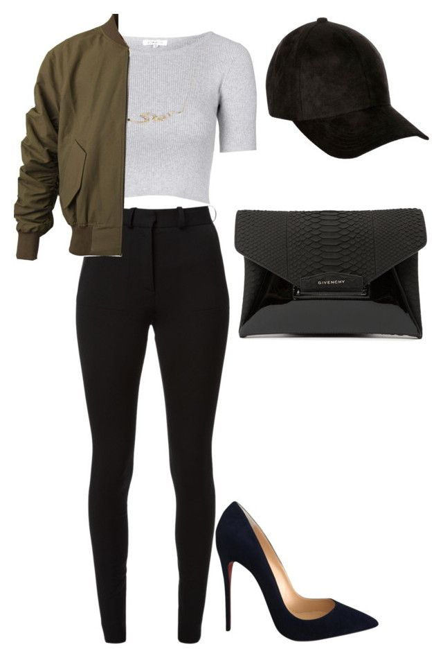 """Untitled #241"" by amoney-1 ❤ liked on Polyvore featuring Topshop, Victoria Beckham, Stephen Webster, Christian Louboutin, River Island and Givenchy"