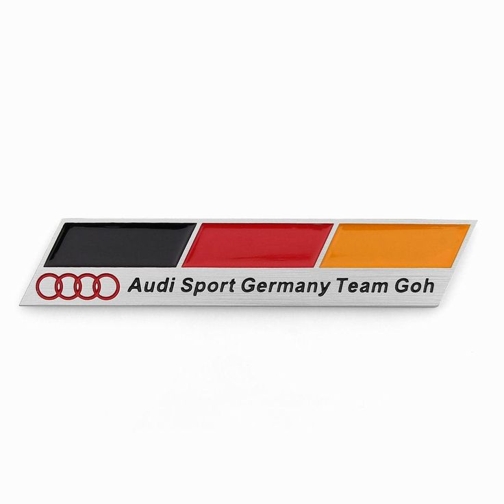 Mad Hornets - 3D Aluminum Emblem Badge Sticker Decal Audi Sport Germany Team Goh Flag, $16.99 (http://www.madhornets.com/3d-aluminum-emblem-badge-sticker-decal-audi-sport-germany-team-goh-flag/)