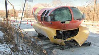 Oscar Mayor Wienermobile Damaged In Enola, Pennsylvania Crash  An iconic Oscar Mayer Wienermobile has crashed into a pole in Pennsylvania. Officials say the giant hot dog's wheels slid off a road on Sunday in Enola, near Harrisburg.