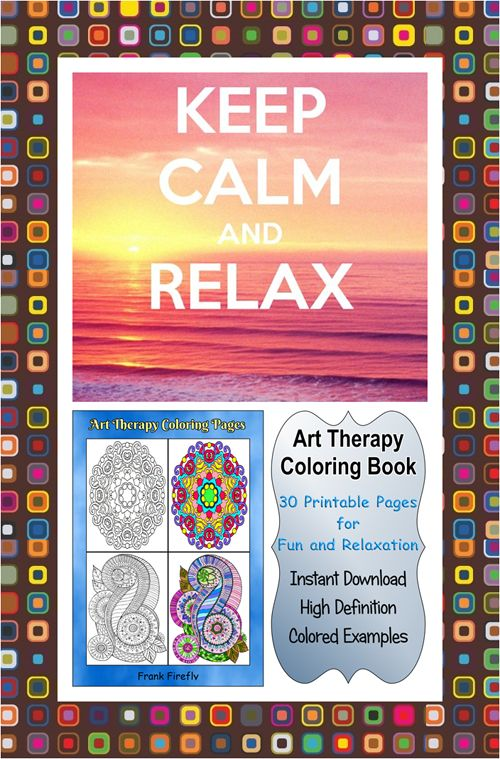 30 High Definition Coloring Pages Black Outlines With Colored Examples This Mandala Art Therapy