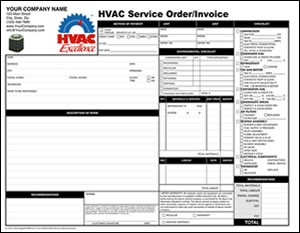 HVAC Service Order and Invoice  $48.00