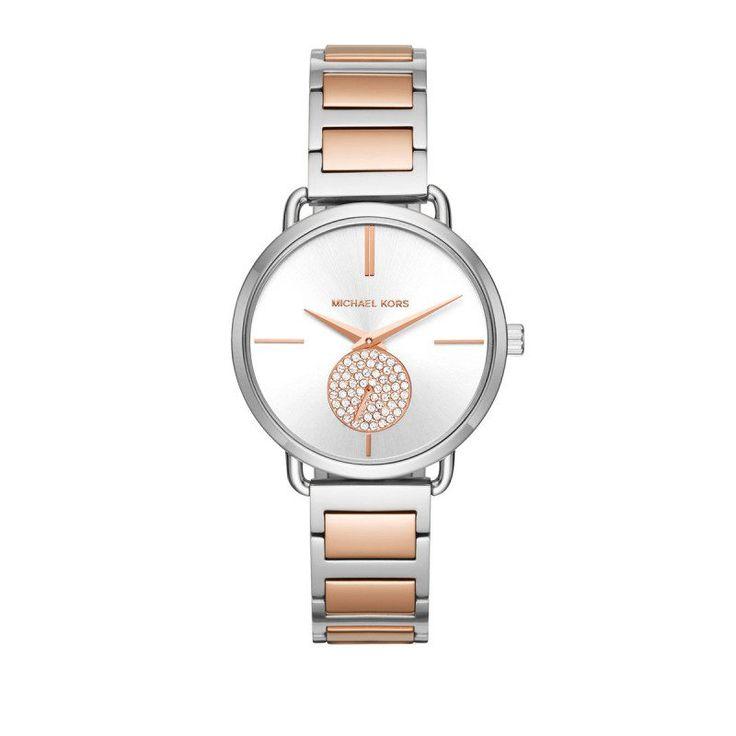 Michael Kors Michael Kors Armbanduhr – Ladies Portia Watch Silber/Roségold – in rosa, silber – Armbanduhr für Damen