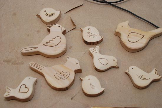 Wooden birds decoration - howto