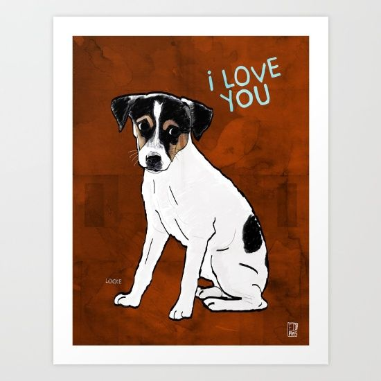 Dog: Rat Terrier Art Print