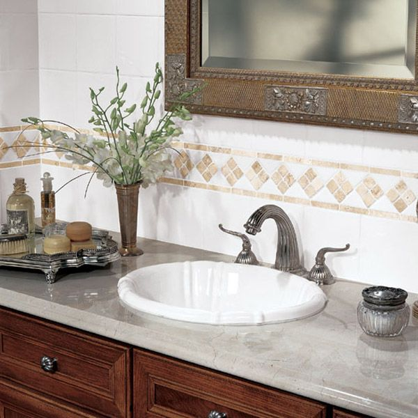 Details photo features fashion accents in 100 white for Tile fashion