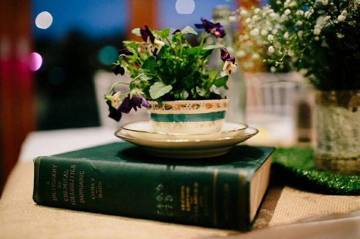 Old books to use as centrepieces