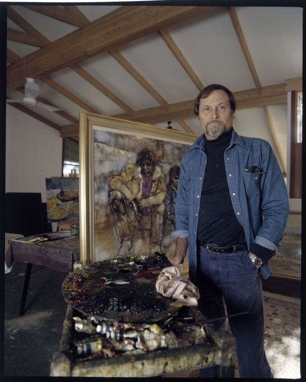 216393PD: William Boissevain in his studio, c1987.  http://encore.slwa.wa.gov.au/iii/encore/record/C__Rb2436523__S216392pd__Orightresult__U__X3?lang=eng&suite=def