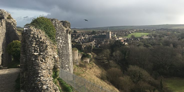view over purbeck from corfe castle dorset