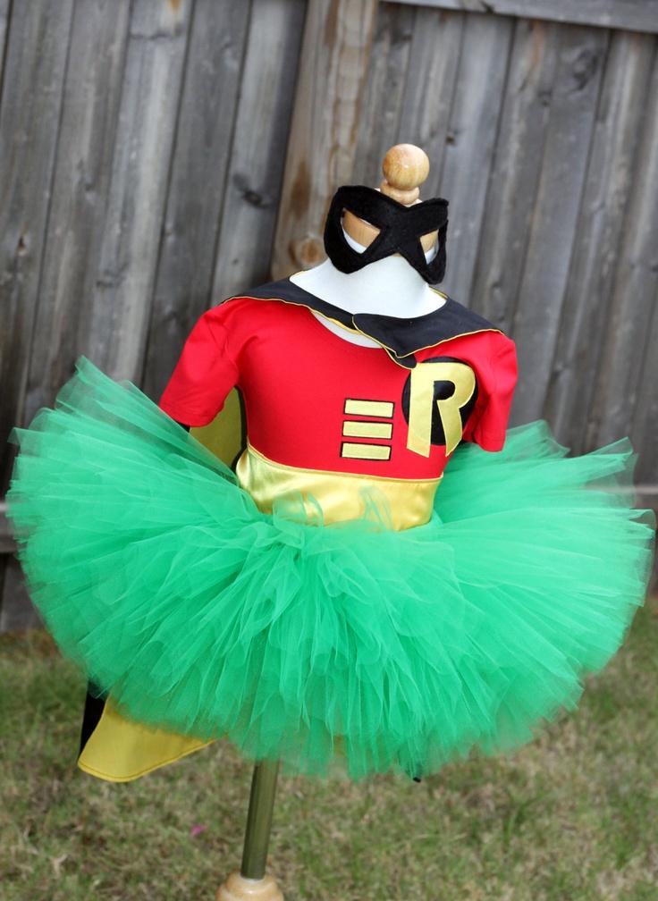 Robin Super Hero Girl Tutu Costume. $71.00, via Etsy.