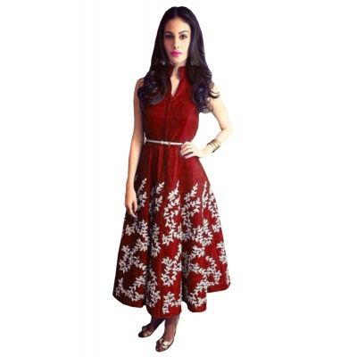 Gorgeous Red Art Silk Kurti.