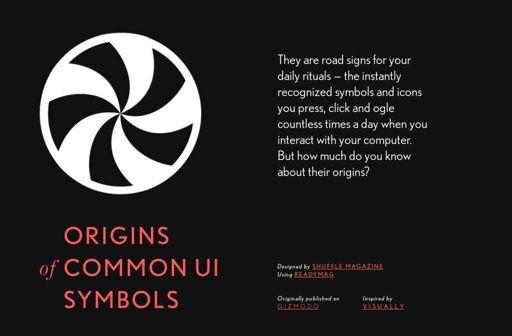 'Origins of Common UI Symbols' by Shuffle Magazine