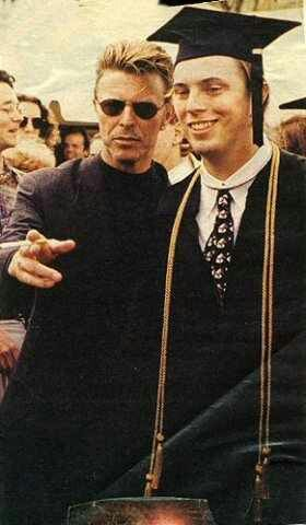 DAVID BOWIE and son Duncan They've both got the same good looks.
