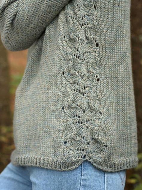 Fountain Raglan Women's Sweater Free Knitting Pattern
