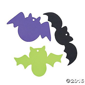 Use your own wiggle eyes, glitter glue and other craft supplies to decorate a one-of-a-kind bat. Foam. (2 dozen per unit) 6 - 11 x 3 - 6 © OTC