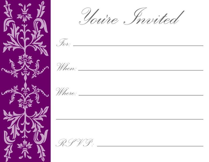 229 best Invitations card template images on Pinterest Card - free birthday invite template