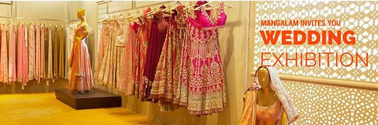"""Are you ready to be a part of """"Grand wedding exhibition"""" !!!  Manglam Wedding exhibition can give you a chance.We are show casing -  1. Designer Wedding Apparel (Bride and Groom). 2. Designer Wedding Jewellery. 3. Wedding Clutches and bags. 4. Wedding Footwear. 5. Wedding Accessories.  Click http://shaadimagic.com/events/mangalam-grand-wedding-exhibition/ for details."""
