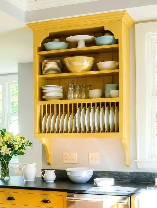 Decorative Plate Rack For Wall Wood Building A With Dowels Mounted Holder