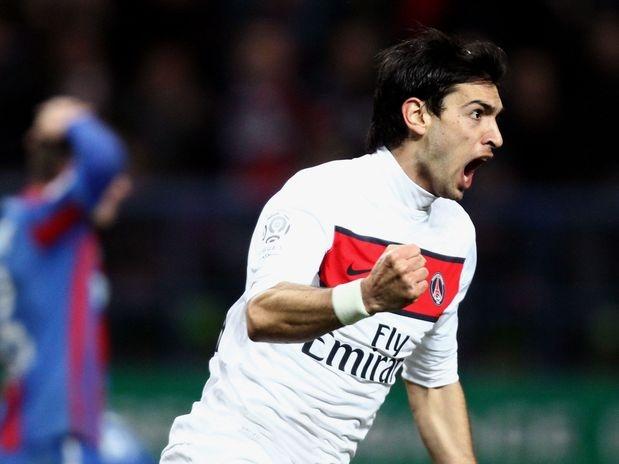 Pastore anotó en el empate del PSG  Javier Pastore abrió el marcador en el empate por 2 a 2 frente al CAEN.