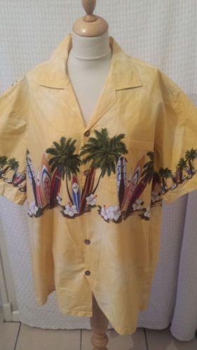 1940s-1950s-Estilo-Rockabilly-Camisa-Hawaiana-Surf-Para-Hombre-Talla-XL-por-FAVANT