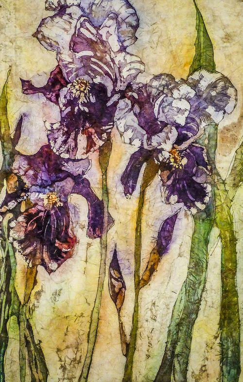 Linda Virio ~ Only the Lonely, watercolor batik