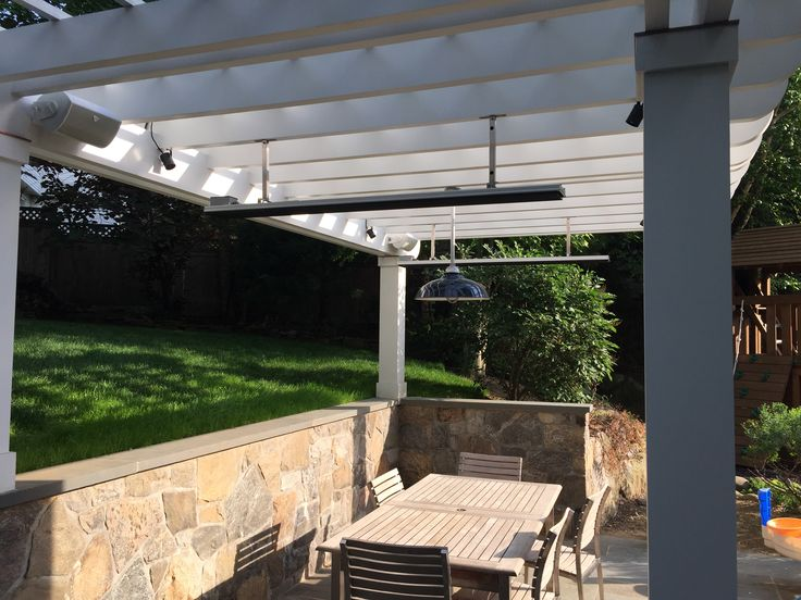 "Trellis with patio heater with 12"" Drop down Kit"