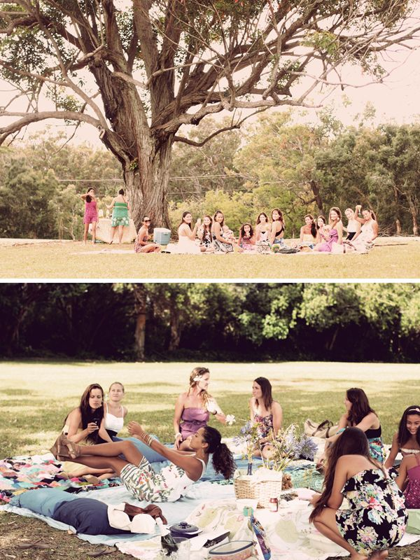 Picnic Bridal Shower! this is really cute everyone brings a blanket and food! i love it!