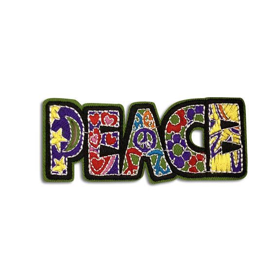 CUTE PATCHES: Peace Patch, Backpack Patches, Patches For Jackets, Iron On, Embroidered, Grateful Dead, Cool Patches, Hippy Gifts by VinylLoversUnite on Etsy