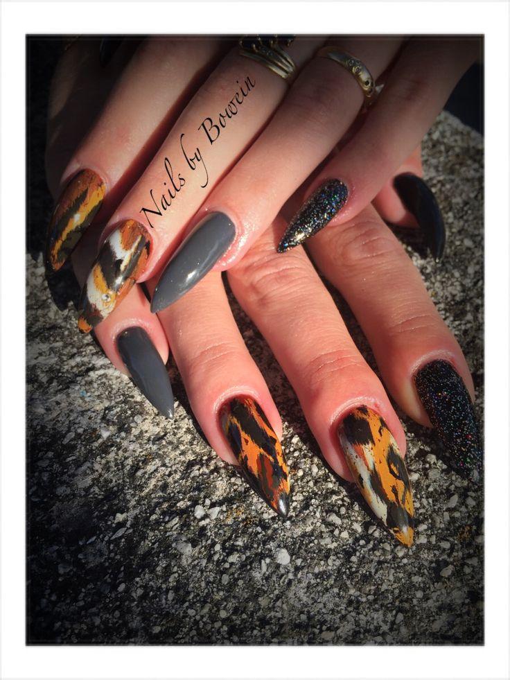 Långa spetsiga naglar! Folie! Shellac NailsbyBowein