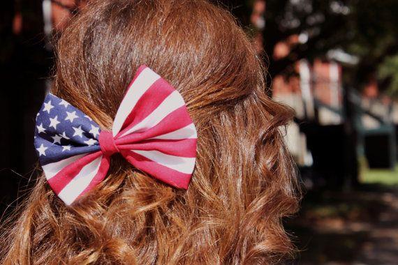American Flag Hair Bow By Biancaparistaylor On Etsy 4 50 Hair Bows Bows Hair