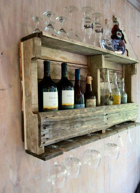 Wine Rack Wine Shelf Bar Shelf Liquor Shelf.  -Glad my dad knows how to make this stuff!