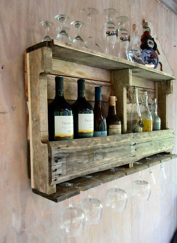 Wine Rack Wine Shelf Bar Shelf Liquor Shelf.  -Glad my dad knows how to make this stuff!