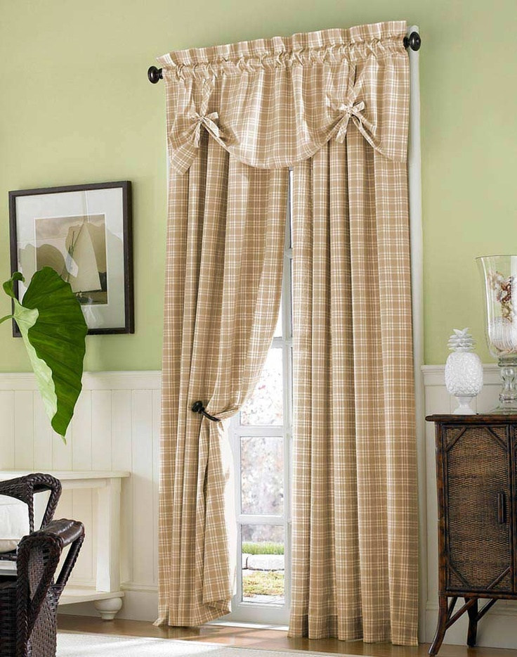 Country Plaid Curtains   I Need New Curtains