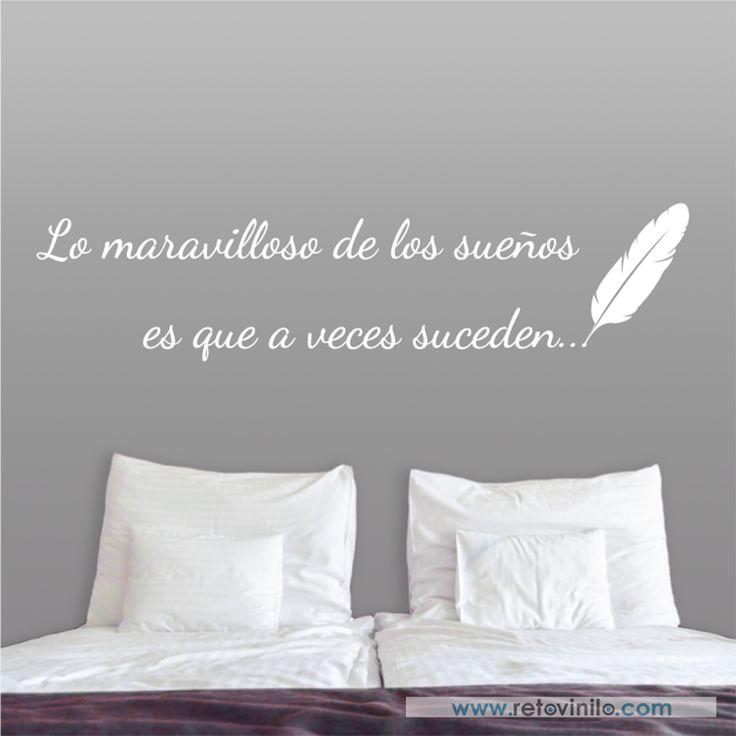 Medidas 150x36 cm  #retovinilo #vinilosdecorativos #vinilos #cabecerosdecama #cabeceros #soñar #dormir #descansar