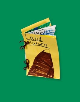 make a natural landforms book