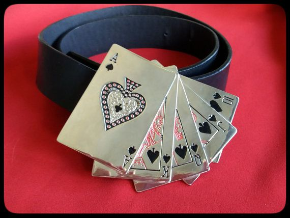 Vintage silver and black statement spade cards by PawhillTreasures