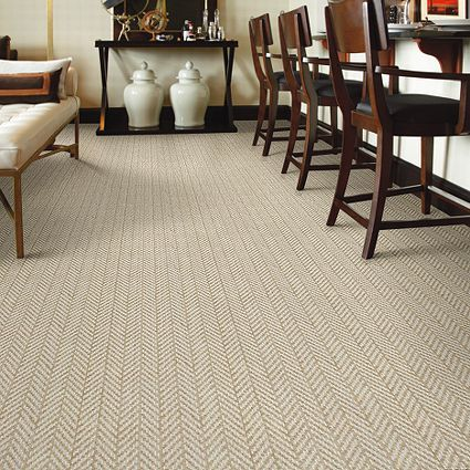 Tuftex Only Natural Color Fine Grain Herringbone Carpet