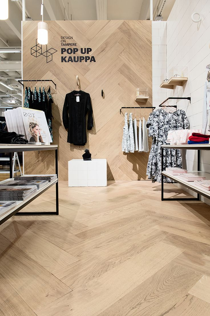 Oak Herringbone NORDIC, brushed wax oiled in Department Store Sokos in Tampere Finland.