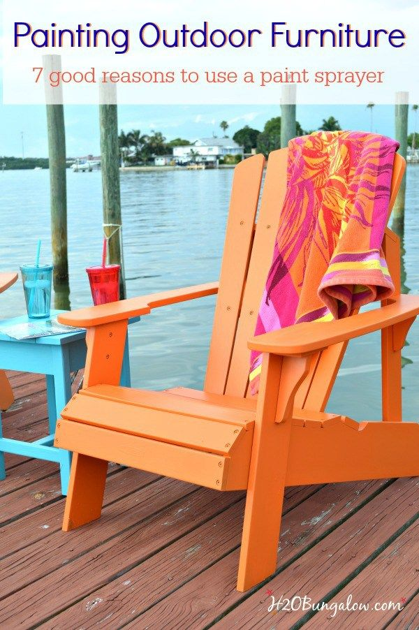 7 good reasons to paint outdoor furniture with a paint sprayer includes a video that shares how easy it is to use a paint sprayer on outdoor furniture.