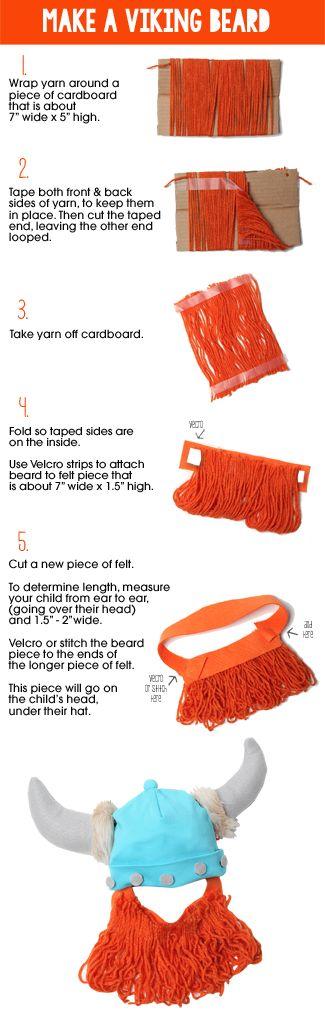 How to make a yarn beard! Cute for a kids costume.