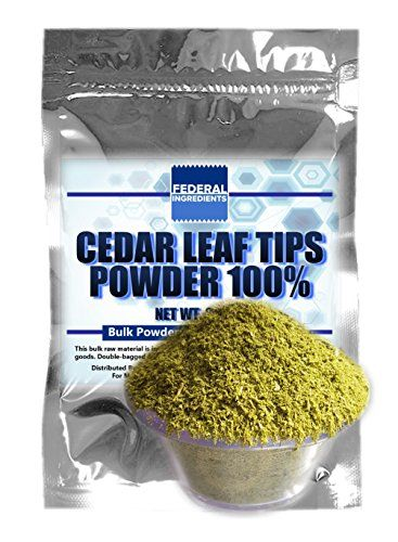 WESTERN RED CEDAR TIPS POWDER  25 Ounce 70 Grams Lab Grade Sample  Thuja plicata  Made in the USA by Federal Ingredients  aka thuja homeopathic thuja cedar tips powder * Click image to review more details. (Note:Amazon affiliate link)