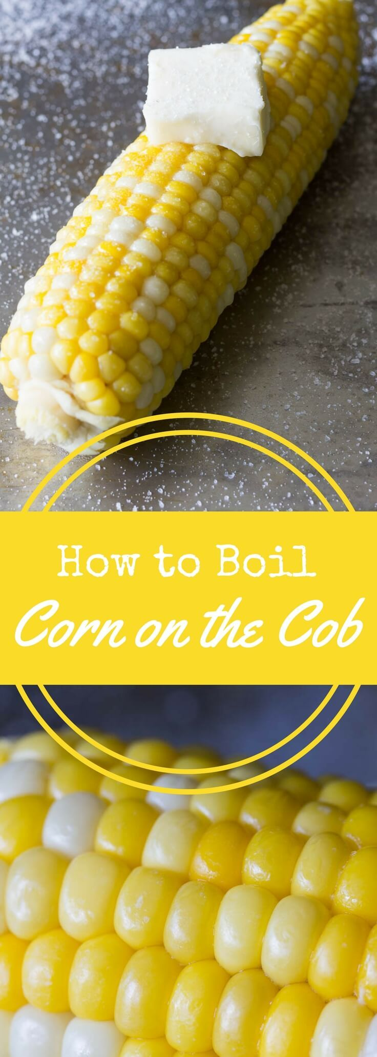 Get the exact cooking time for boiled corn on the cob.  It's foolproof and easy once you learn how to boil corn on the cob! via @recipeforperfec