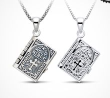Sterling-Silver-Jewelry Catholic Bible Scripture Book Necklace Lovers Pendant  Necklace The Testimony of Love Choker //Price: $US $11.15 & FREE Shipping //     #hashtag3
