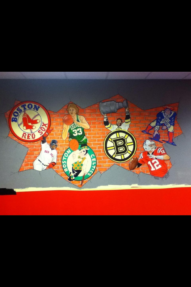 78 images about all boston sports teams on pinterest for Boston wall mural